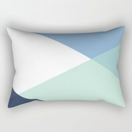 Geometrics - seafoam & blue concrete Rectangular Pillow