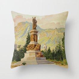 Trento Italy Statue Dante Throw Pillow