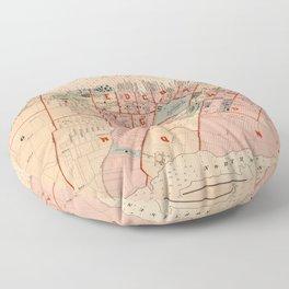 Map of Halifax 1878 Floor Pillow