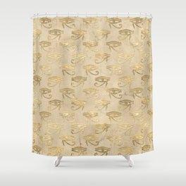 Gold Egypt Eye Of Horus Pattern Shower Curtain