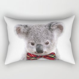 Baby Koala With Bow Tie, Baby Animals Art Print By Synplus Rectangular Pillow