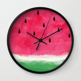 Watermelon Abstract Wall Clock