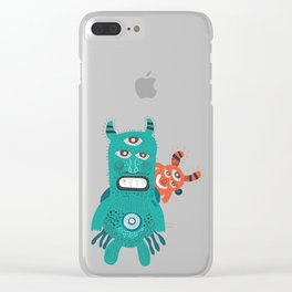 A Pair of Alien Visitors Clear iPhone Case