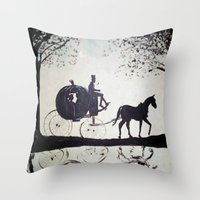 cinderella Throw Pillows featuring Cinderella  by Lamont Powell