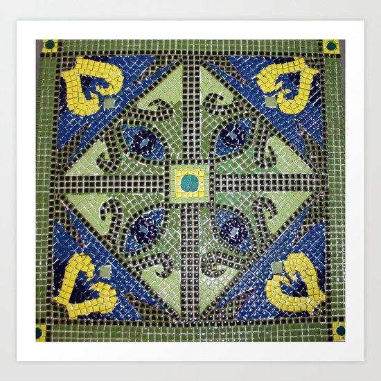 Geometric Eye Mosaic Art Print