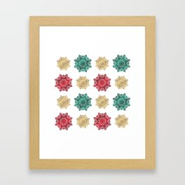 Holiday star pattern Framed Art Print