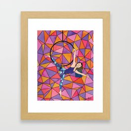 Bright Geometric Aerialist Framed Art Print