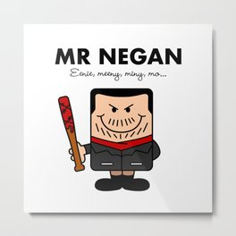 Mr Negan Metal Print