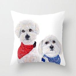 Molly and Noah Throw Pillow