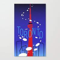 toronto Canvas Prints featuring Toronto by Maygen Kerrigan