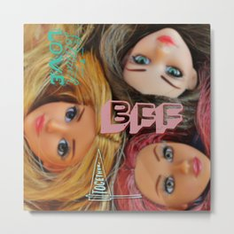 BFF Barbies Metal Print