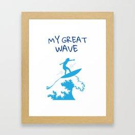 My Great Wave Framed Art Print