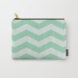 Wintermint Chevron Carry-All Pouch