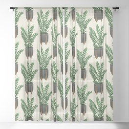 ZZ Plant Sheer Curtain