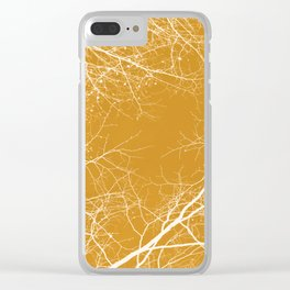Branches Impressions on Yellow Clear iPhone Case