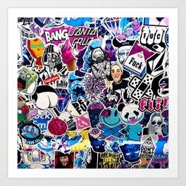 Bumper Stickers Art Print