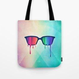 Love Wins! Rainbow - Spectrum (Pride) / Hipster Nerd Glasses Tote Bag