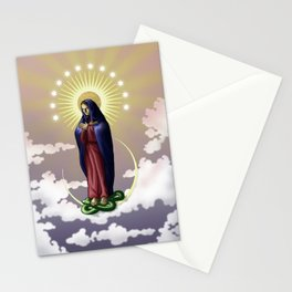 Immaculate Virgin digital painting Stationery Cards
