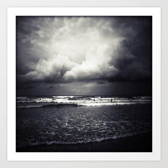 Surf and Rain Art Print