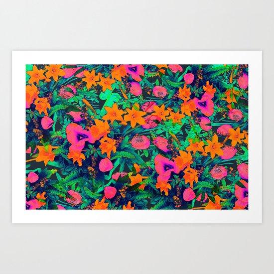CRAZY FLOWERS Art Print