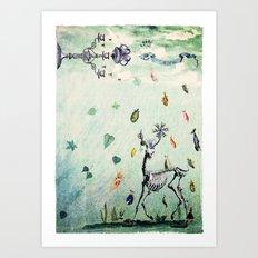 rain, rain come again Art Print