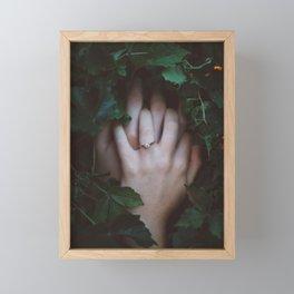 Couple Hands Together Framed Mini Art Print