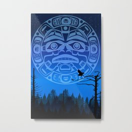 qathet Moonrise Metal Print