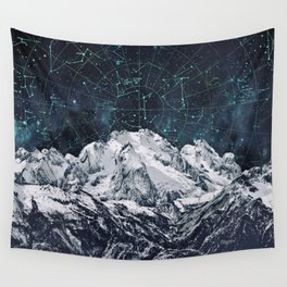 Constellations over the Mountain Wall Tapestry