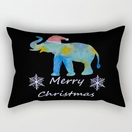 Santa Elephant Rectangular Pillow