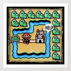 Super Mario 3 Level 1 Art Print