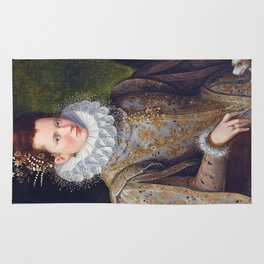 Portrait of Court Lady with Dog by Lavinia Fontana Rug