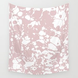 Blush Pink White Spilled Paint Mess Wall Tapestry