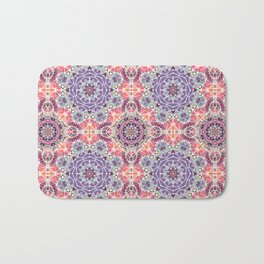 Abstract background with triangle pattern Bath Mat