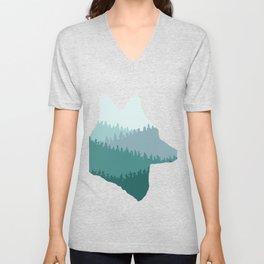 Wolf Mountains (Blue) Unisex V-Neck