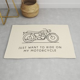 Triumph - Just want to ride on my motorcycle Rug