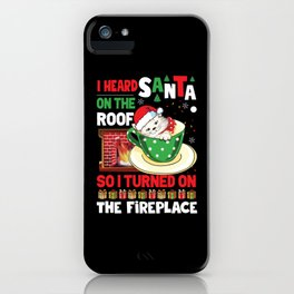Grumpy Christmas Cat Hates Santa Gift iPhone Case