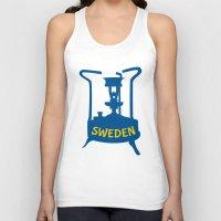 sweden Tank Tops featuring Sweden | Brass Pressure Stove by mailboxdisco