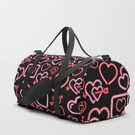 Neon Love in Black Duffle Bag