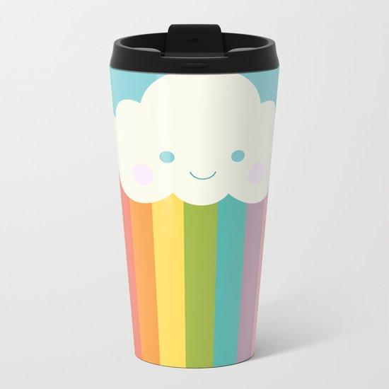 Proud rainbow cloud Metal Travel Mug