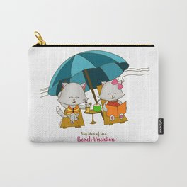 Romantic Kitten Fluffy Tales, My Idea Of Love: Beach Vacation (MIOL) Carry-All Pouch