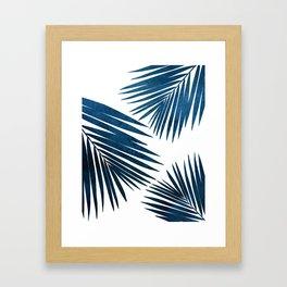 Indigo Palm Fronds Framed Art Print