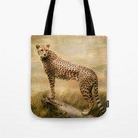 cheetah Tote Bags featuring Cheetah by tarrby/Brian Tarr