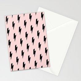 Lightning Bolts Blush Stationery Cards