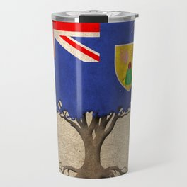 Vintage Tree of Life with Flag of Turks and Caicos Travel Mug