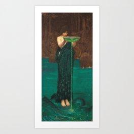 John William Waterhouse - Circe Invidiosa Art Print