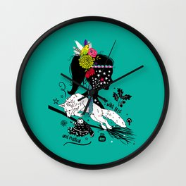 Wild, free and magical Wall Clock