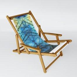 Royal Labradorite Crystal Agate Gemstone Print Sling Chair