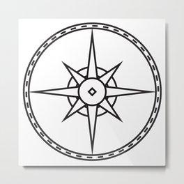 Compass 3 Metal Print