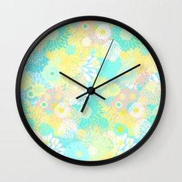 Floral firework Wall Clock