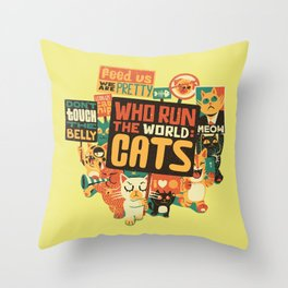 Who Run The World Cats Throw Pillow